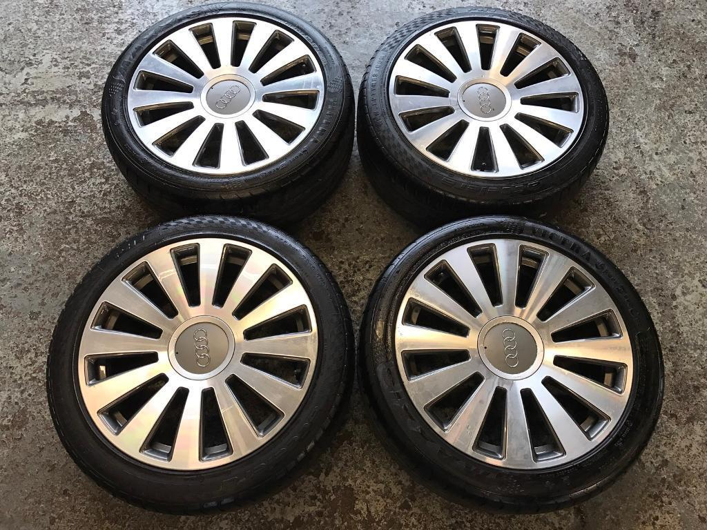 Genuine Audi A8 Alloy Wheels 19 Quot Polished Good Tyres All