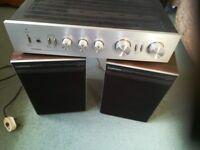 "Pioneer stereo amplifier and two Goodmans 12"" speakers."