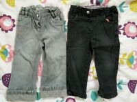 Size 2 years girls jeans. Hello Kitty & winnie the pooh