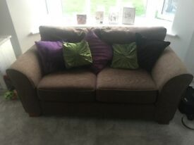 Brown sofas 3 seater and 2 seater