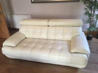 White Leather Sofa's