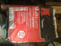 4 weather proof bags of cement 25kg each