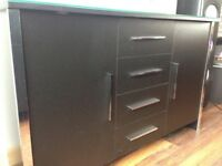 Set of Two Black Drawer/ Cupboard