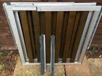 2 NuMi extendable wood and aluminium stair gates