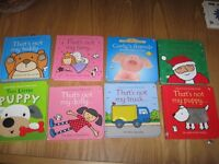 8 ASSORTED TOUCHY FEELY BOOKS - All in good condition