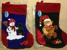 2 BRAND NEW Christmas Stockings