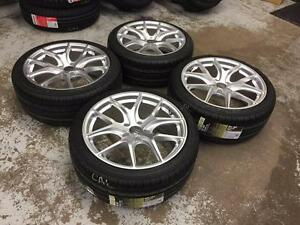 18 Hyper Silver Replica Wheels 5x112 and Performance Summer Tires 245/40ZR18 (AUDI) Calgary Alberta Preview