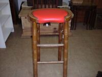 Red Leather Bar Type Stools