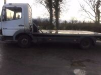 Mercedes 815 Atego beavertail recovery truck 345182 kms