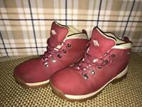 Leather Northwest Walking Boots pink/red - size 5