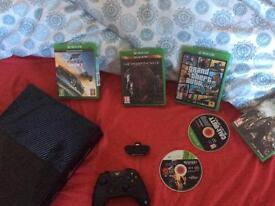 Xbox one 500g mint with 6 games controller adaptor and wires