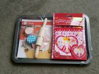 Kids cooking set and apron bnib