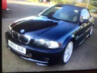BMW 325i m sport convertible 1 year mot start&drives