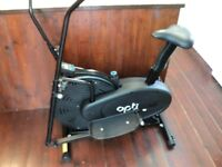a nearly new cross trainer/ exercise bike