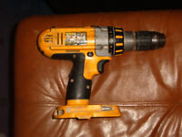 Dewalt XRP 18 volt cordless drill FOR PARTS OR REPAIR