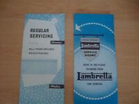 Lambretta Service Brochures.