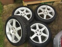 "Genuine Fondmetal Toyota Celica 17"" alloy wheels & Eagle F1 Tyres 215/45/17, PCD 5x100"