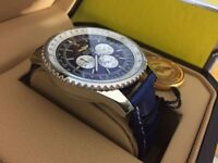 New Swiss Breitling Navitimer Blue Dial CHRONOGRAPH Watch