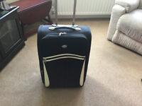 Black Lightweight Expandable Suitcase