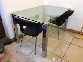 Glass table (Heavy) 90cm x 140cm