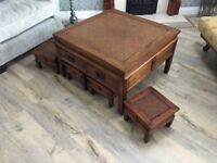 Oriental Style Solid Wood Coffee Table