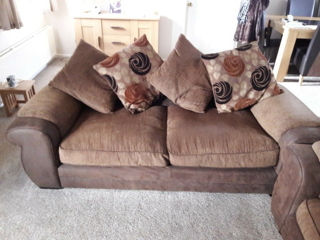 2 3 Seater Faux Leather Cloth Very Comfy Sofa In Lofthouse