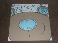 'Patrick' canvas wall art - boys bedroom