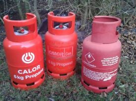 3 x Propane 6Kg Gas Bottles (empty)