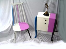 Vintage Ercol Chair & 1950'S Cabinet Upcycled by RETROACTIVE From The Can't Cope With Colour Range
