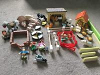 Wooden le toy van farm and jungle set (see all photos)