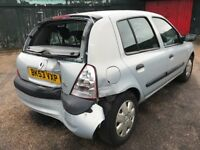 Renault Clio Expression 16V 1390cc Petrol Automatic 5 door hatchback 53 Plate 28/11/2003 Grey