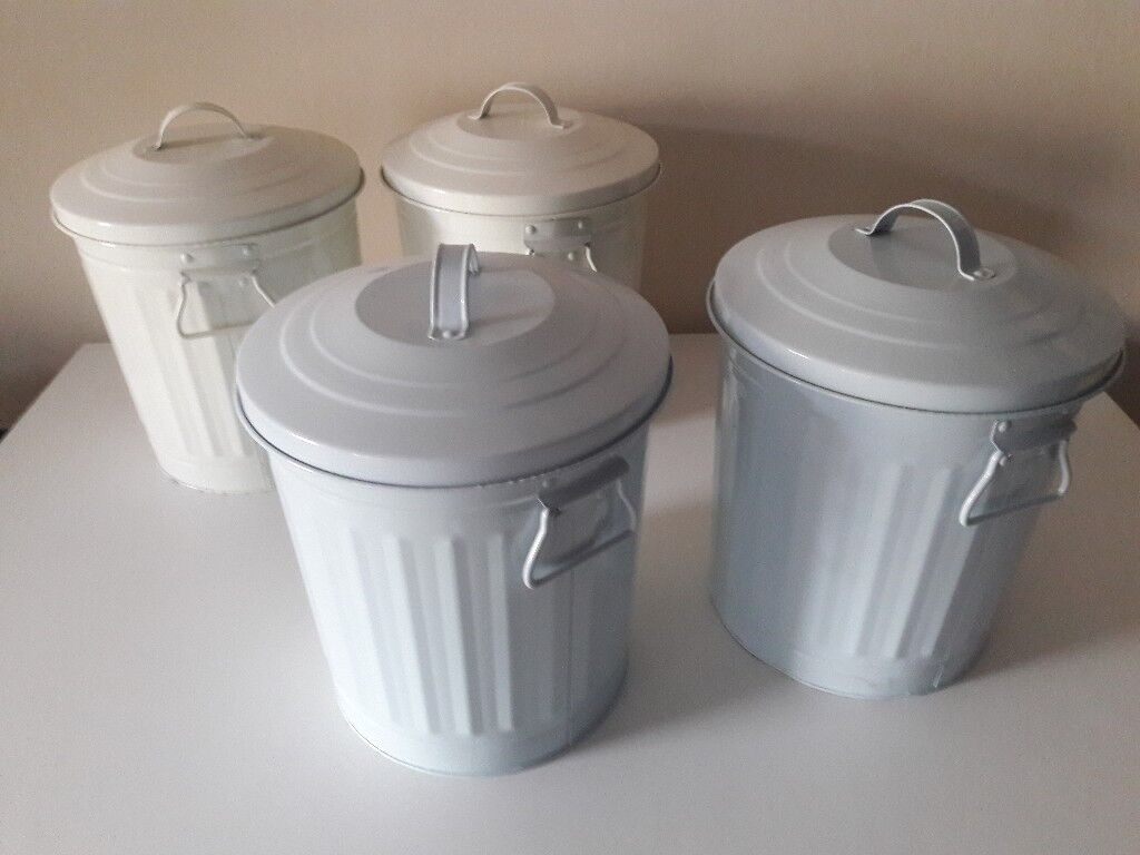 4 small metal bins - £5