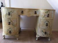 Vintage hand painted dressing table/chest of drawers