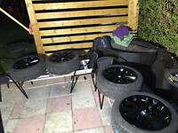 Winter Tyres Bmw f10 f11 E 60 itp continental very good condition tyre run flat