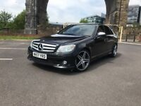 Mercedes c220 CDI spot AMG auto 2007 . F/sh . Sat-nav .Full leather . Xenon lights . HPI CLEAR