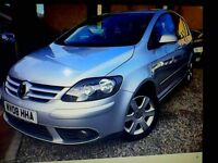 golf plus tdi excellentt condition silver 5 dr