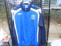 EVERTON FC / UMBRO TRACK SUIT SIZE XL PLUS EVERTON SHORTS XL
