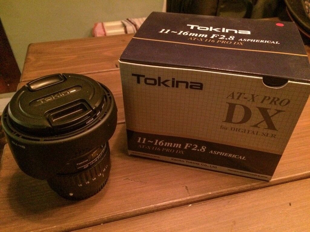 Tokina AT-X PRO 11-16 F/2.8 DX II Lens Canon fit - Excellent Condition