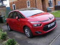 63 REG, 2014 YEAR NEW SHAPE CITROEN C4 PICASSO 1.6 HDI, MANUAL, VTR+, ONLY 28000 MILES, CAT. D