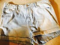 Brand new new look denim shorts size 14