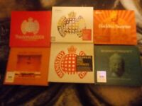 6 CD sets of chillout and ministry of sound.