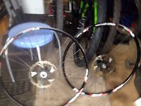 Stans ARCH EX XT Hubs 27.5 inch Wheelset complete with 180mm Ice Tech Rotors