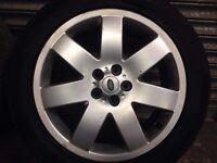 "Range Rover Vogue L322 2004 Set of 4 Wheels & Very Good Tyres 21"" Alloys Rim"