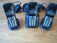 Gigaset A220 cordless phone set - trio