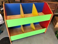 Children's multicoloured bookcase