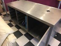 2 x stainless steel catering tables