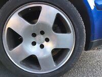 5x100 17'' Audi Alloys - Will fit mk4 Golf Bora etc. PERFECT TYRES