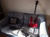 Stretton Payne SG Style Electric Guitar Package with Amplifier