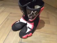 Alpinestars gp series motorcycle boots size 9