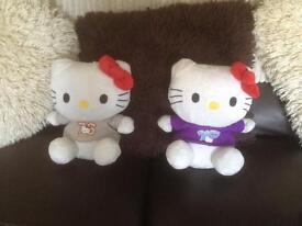 Hello kitty teddys x2
